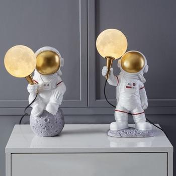 Decorative Moon Astronaut Figure Table Lamp Desk & Table Lamps Night Lamps