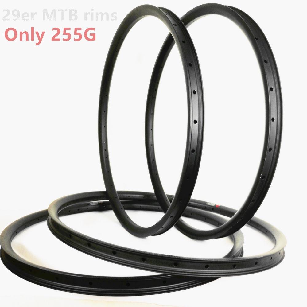 Only 255g UD Matte 29er mtb rims 24mm 27mm 28mm 30mm 33mm 35mm 40mm 50mm carbon rims mountain bike carbon mtb 29er carbon rims