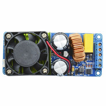 Double alimentation cc 58 V-70 V IRS2092S 500W Mono canal amplificateur numérique 4 ohms charge HIFI pur Module Amp + ventilateur(China)