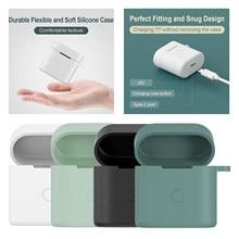 Étuis en Silicone souple pour QCY T7, étui de protection pour écouteurs sans fil Bluetooth, housse pour boîte de chargement