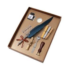 Герметизирующая ложка для воска набор чернил перо ручка подарок авторучка бизнес Подарочная авторучка чернила офисные принадлежности