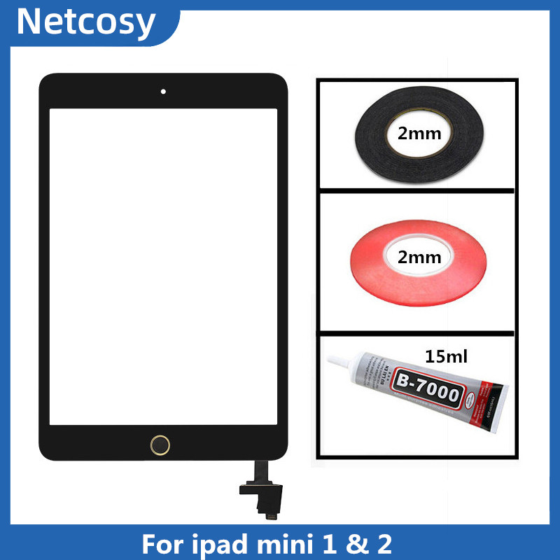 Touch Screen Digitizer Home Assembly For Ipad Mini 1 A1432 A1454 A1455 Mini 2 A1489 A1490 A1491 Tablet For Ipad Mini 1 & 2