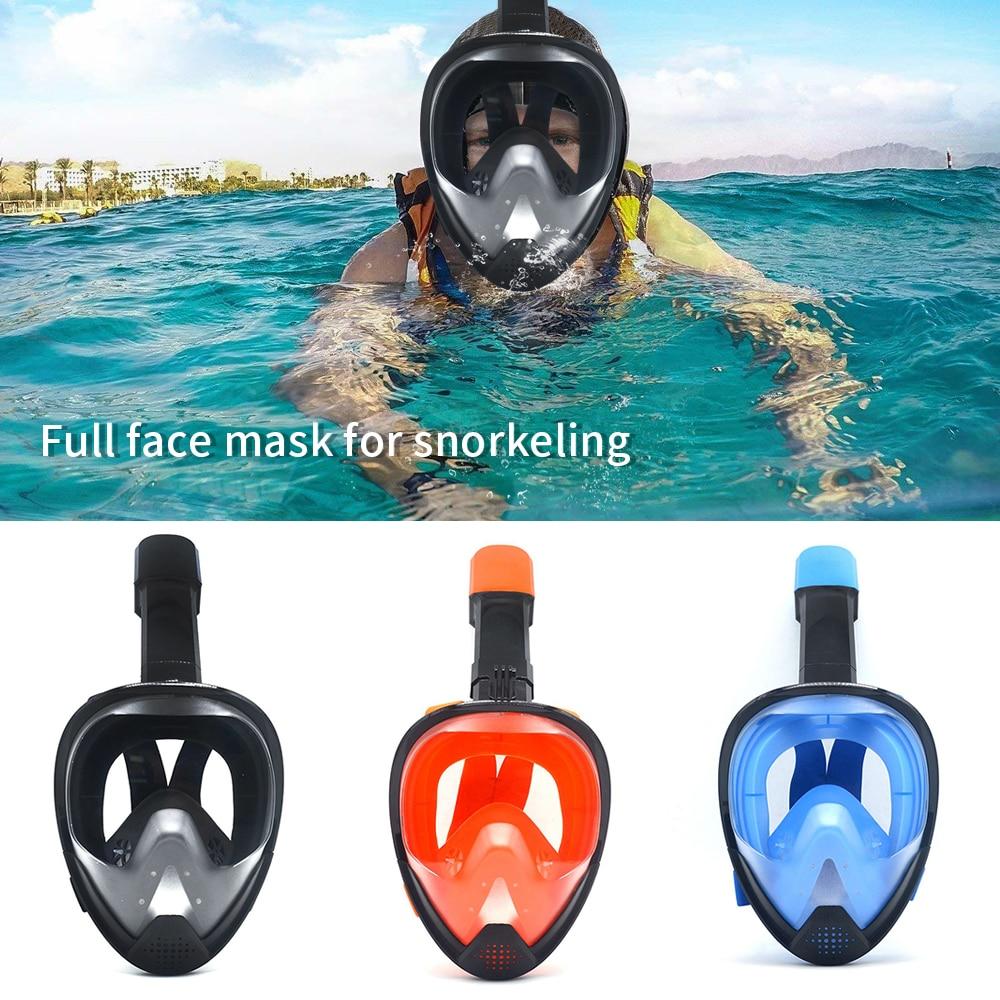 2019 Full Face Diving Masks Anti-fog Snorkeling Mask Underwater Scuba Mask 180 Degree Adult Glasses Training Swimming Equipment