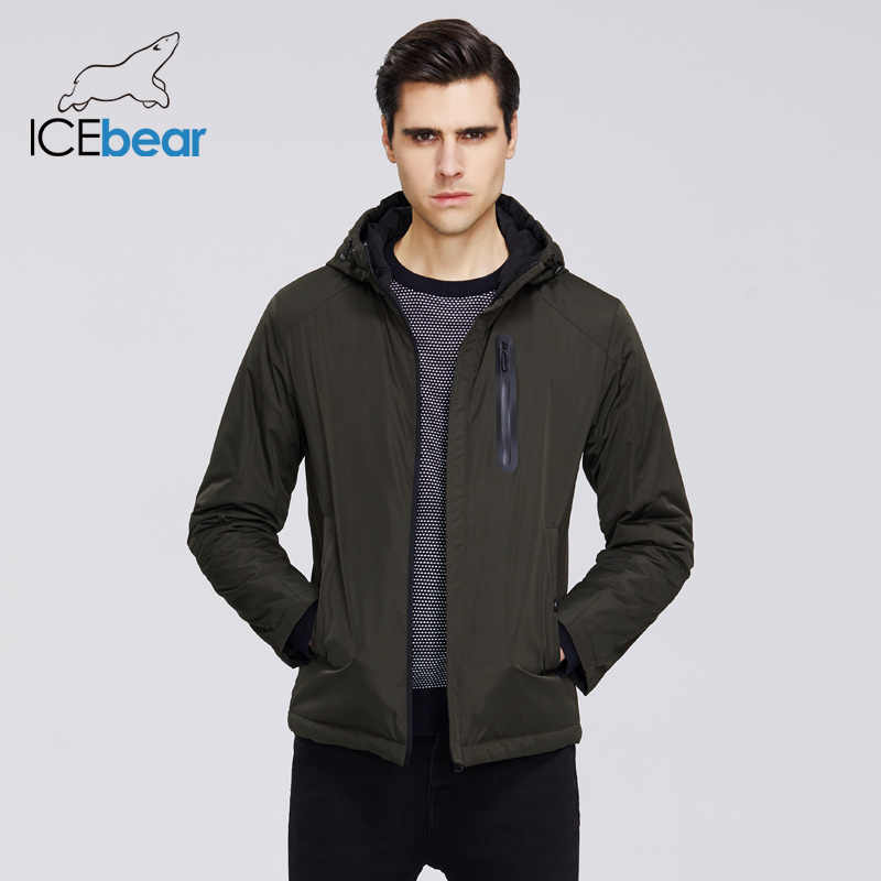 ICEbear 2020 Mens แจ็คเก็ตฤดูใบไม้ผลิ Mens Hooded แจ็คเก็ตผู้ชาย Zipper เสื้อผ้าสบายๆเสื้อผ้า MWC20806I