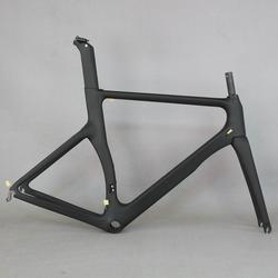 Productos OEM cero beneficio Aero diseño ultraligero 18K bicicleta de carretera de carbono Marco de fibra de carbono bicicleta de carreras marco 700c aceptar pintura