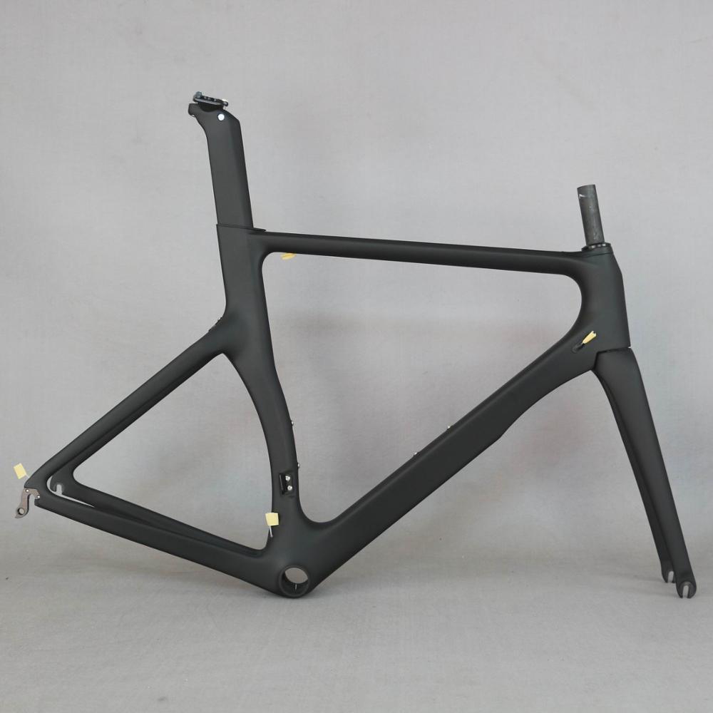Produits OEM zéro profit Aero conception ultra-léger 18K carbone cadre de vélo de route en fibre de carbone vélo de course cadre 700c accepter la peinture