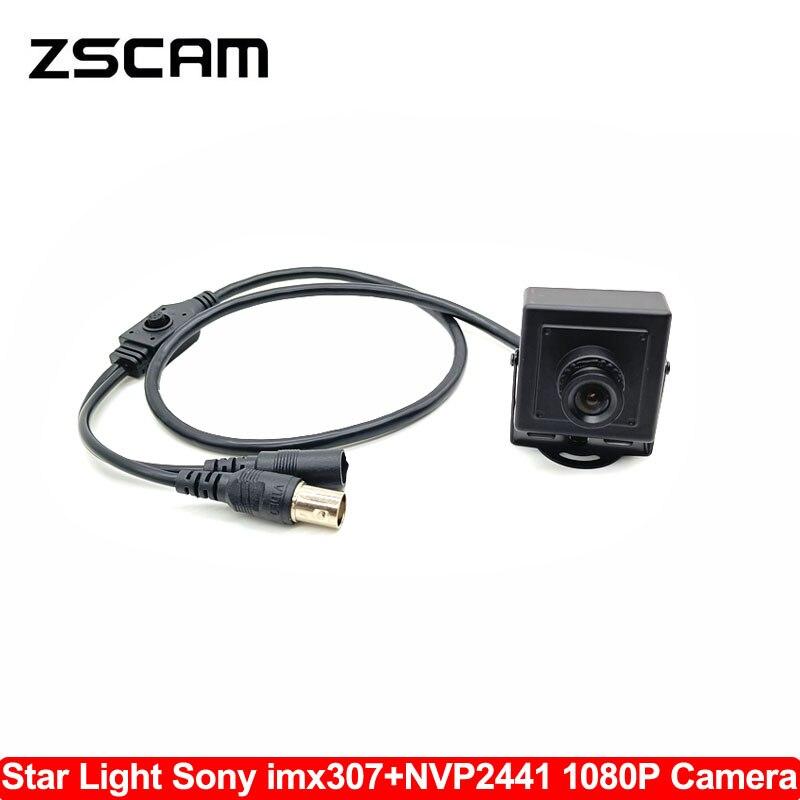 HD 1080P AHD/TVI/CVI/CVBS 4 In 1 Mini CCTV UTC Camera Sony IMX307 Chip Star Light 0.0001 Lux Home Security Surveillance OSD Cam