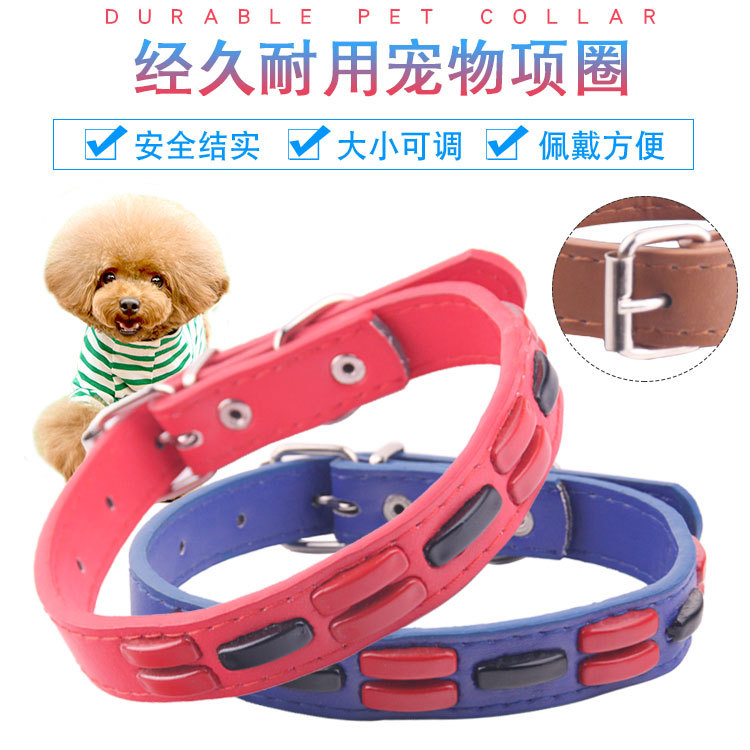 Pet Supplies Dog Collar Bell Bow Acrylic Pu Cat Triangular Binder Neck Ring Collar