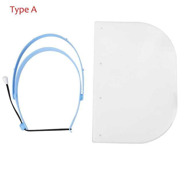 10pcs Dental Protective Face Dental Face Shield 1 Shelf 10Pcs Detachable Face Shield  Anti-Fog Dustproof Replacement Covers 4