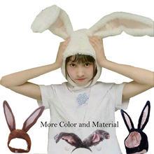 Popular meninas coelho bandana de pelúcia orelhas de coelho aros branco orelhas de coelho headdress presentes para a mulher ferramentas fotográficas selfie