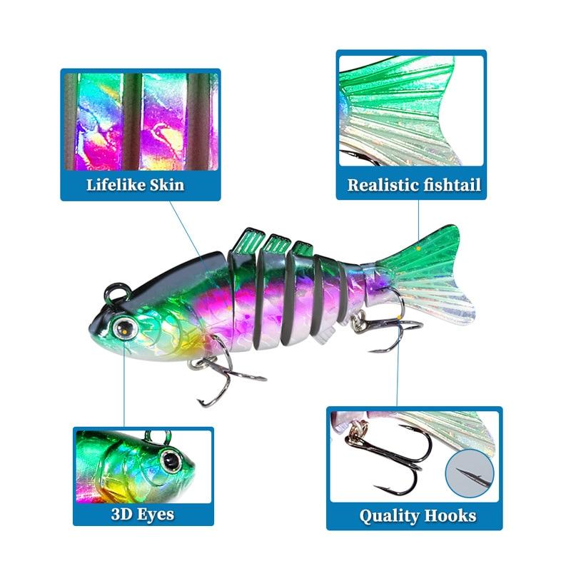 Купить рыболовная приманка 95 см/24 г 7 секций свимбейт рыболовная