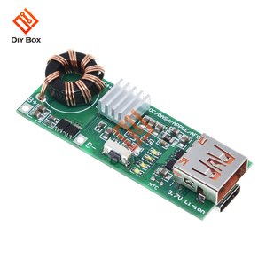 Image 1 - QC4.0 QC3.0 PD szybkie ładowanie USB pokładzie 3.7V do 5V 9V 4.5A 18W zwiększyć powerbank do telefonu moduł ładowarki