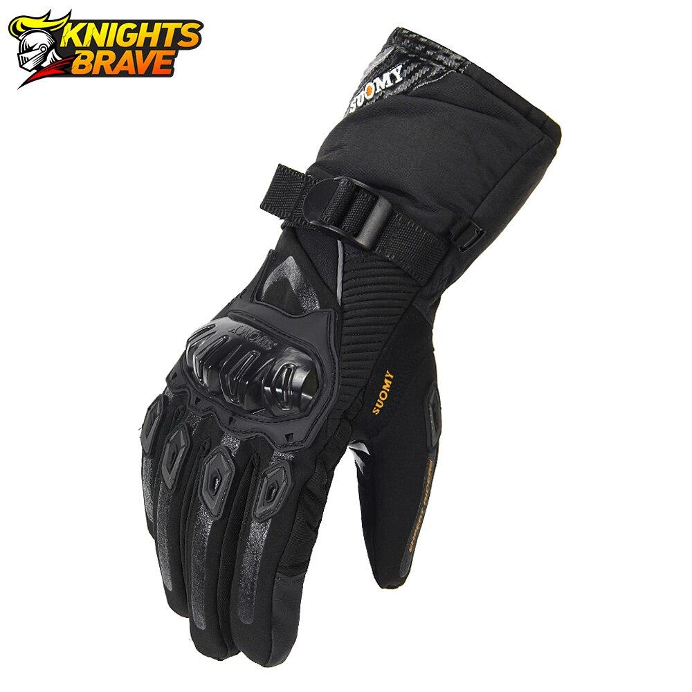 Зимние Мотоциклетные Перчатки SUOMY 100%, водонепроницаемые ветрозащитные перчатки для езды на мотоцикле