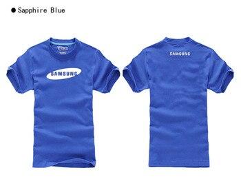 Camisetas de manga corta de algodón de buena calidad camiseta de verano camiseta disfraz Samsung logo camiseta