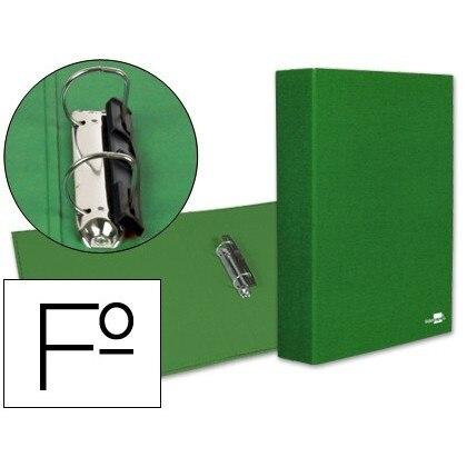 2 'S FOLDER RINGS 40MM MIXED LIDERPAPEL FOLIO CARTON LINED PAPER COAT COMPRESSOR PLASTIC GREEN