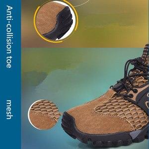 Image 4 - VEAMORS גברים סניקרס טרקים טיולים נעלי החלקה לנשימה טיפוס רשת זכר במעלה הזרם מים ספורט חיצוני סניקרס