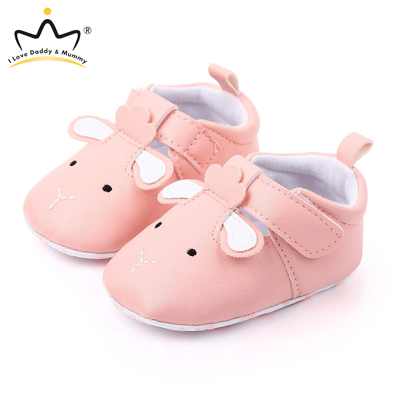PU Cartoon Animals Baby Shoes Soft Bottom Non-Slip Baby Girl Boy Shoes Newborn First Walkers Infant Toddler Shoes