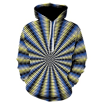 2019 fun design cool boy pullover, 3D vertigo hypnotic hoodie sweatshirt skateboard for men and women thin fall hoodie hip-hop