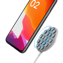 Suction Cup Qi Wireless Charger Pad 10W Wireless Fast Charging for IPhone 11 Pro Xs Max for Samsung S20 S10 Handheld Charger