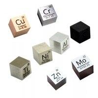 Element Cube 10mm Reine Dichte Kobalt Nickel Kupfer Zink Niob Molybdän Zinn Wolfram Wismut Blei Antimon Titan Eisen