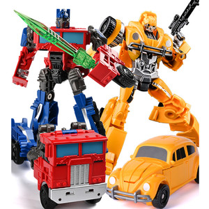 Image 2 - WEI JIANG New Cool Anime Transformation Toys Robot Car Super Hero Action Figures Model 3C Plastic Kids Toys Gifts Boys Juguetes