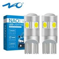 NAO W5W LED Lumineux T10 LED Ampoule 5 SMD 3030 Voiture Intérieur Lumière 1.6W 186 194 12V COB 6000K Blanc Ambre Feux de Gabarit