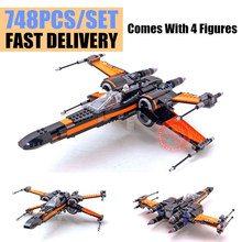 цены 05004 10466 05029 740Pcs Star Wars First The TIE first order poe's Rebel X-wing Fighter Building Blocks 75149 79209 LEPIN bela