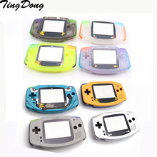 DIY Full set housing shell cover case w/ conductive rubber pad buttons for GameBoy Advance GBA console