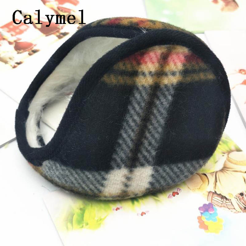 Calymel Men Solid Winter Earmuffs Wrap Ear Warmer Adult Cover Wrap Casual Ear Muffs Earflaps New Arrivals Unisex Headphones