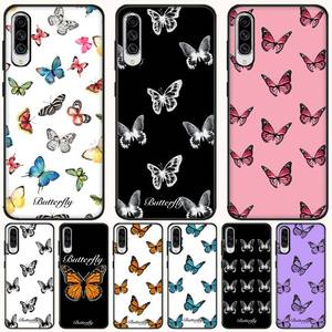 Beautiful Original Butterfly For Girl Funda Etui For Samsung Galaxy A50 A51 A71 A70 A40 A21S A20E A10 Case Note 8 9 10 20 Cases