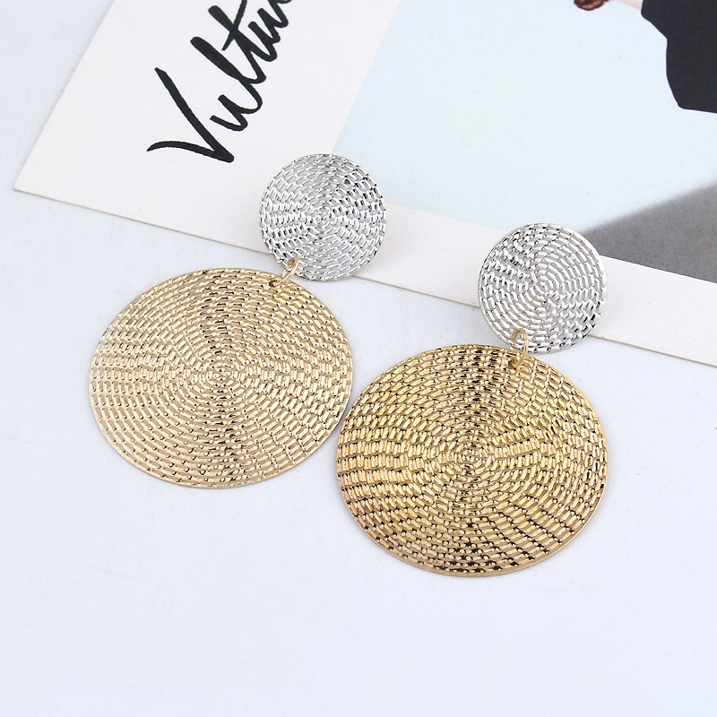 Exaggeration Big Alloy Dangle Earrings For Women Luxury Gold Drop Earring Fashion Statement Female Accessories Wedding 2019 in Drop Earrings from Jewelry Accessories