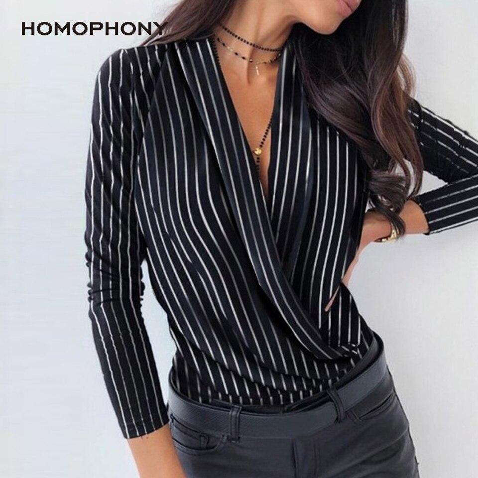 Camiseta de manga longa de impressão homophony feminino topos cachecol gola primavera e outono camisa senhora escritório abacaxi impressão listra