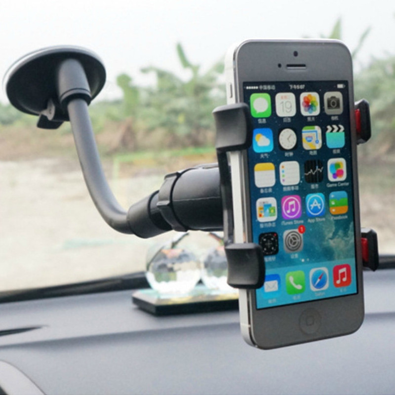 360 Rotating Windshield Car Sucker Mount Bracket For IPhone SE 2020 Xs 11 Pro Max Xr X 8 7 6 6s Plus 5 5s Car Phone Holder Stand