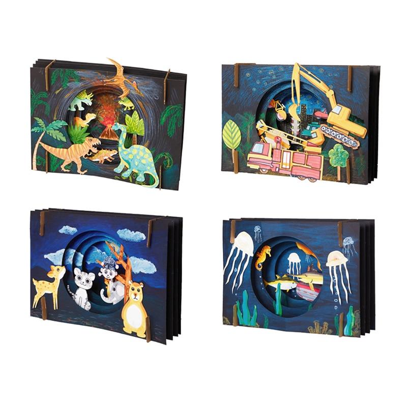DIY Vast Starry Sky Craft Toys For Children Lovely Dinosaur Children Handmade DIY Crafts For Kids Interactive Educational Toys .