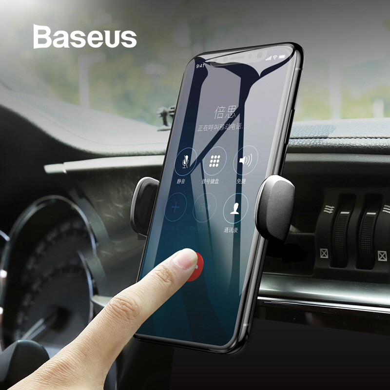 Baseus Mini Car Phone Holder For IPhone 8 Samsung Air Vent Mount GPS Car Holder For Cell Mobile Smart Phone Holder Stand Bracket
