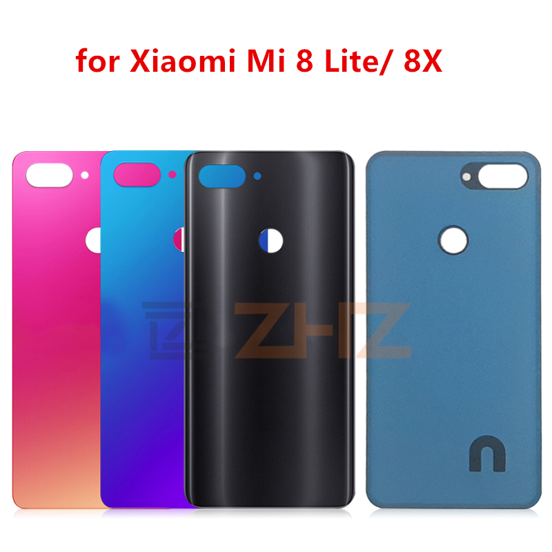 For <font><b>Xiaomi</b></font> <font><b>mi</b></font> <font><b>8</b></font> lite glass <font><b>Battery</b></font> Back <font><b>Cover</b></font> Rear Door Housing Replacement Repair Parts image