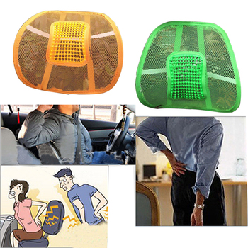 Universal Car Seat Chair Back Massage Supports Waist Cushion Mesh Ventilate Cushion Pad For Car Office Home Car Styling universal back waist brace support car back cushion car back seat support seat supports car styling lumbar pad
