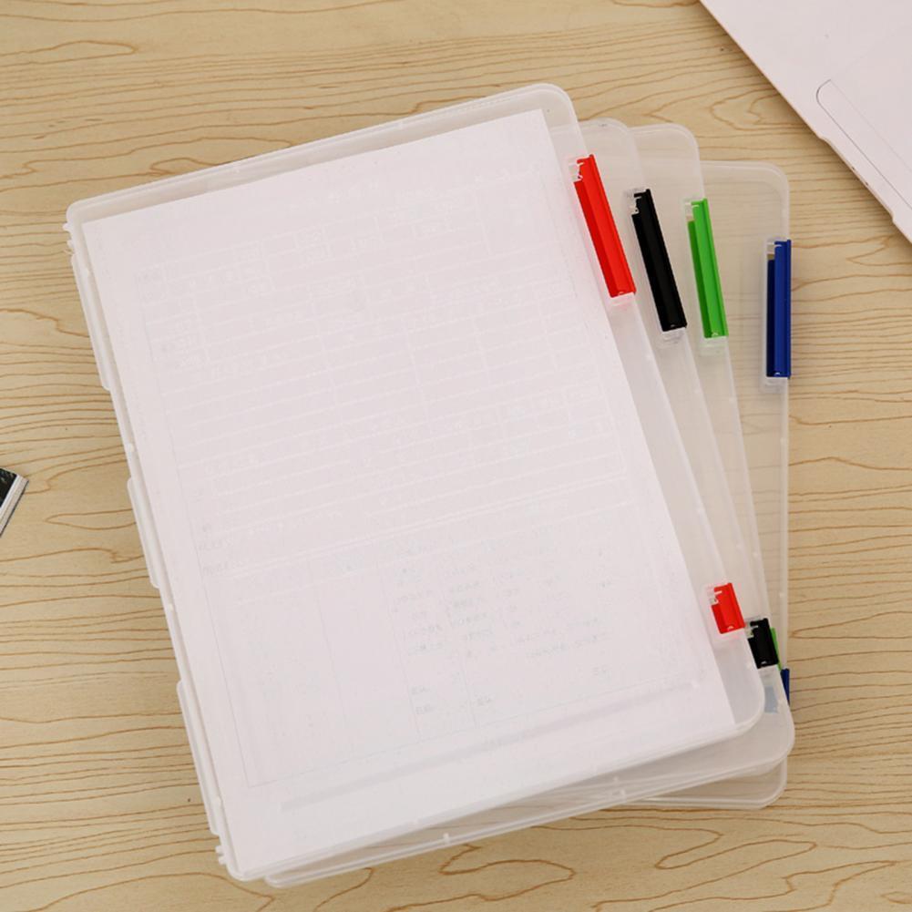 Document Case Practical Wear-resistant Transparent Document Plastic Case for Magazines Document Case Case for Magazines