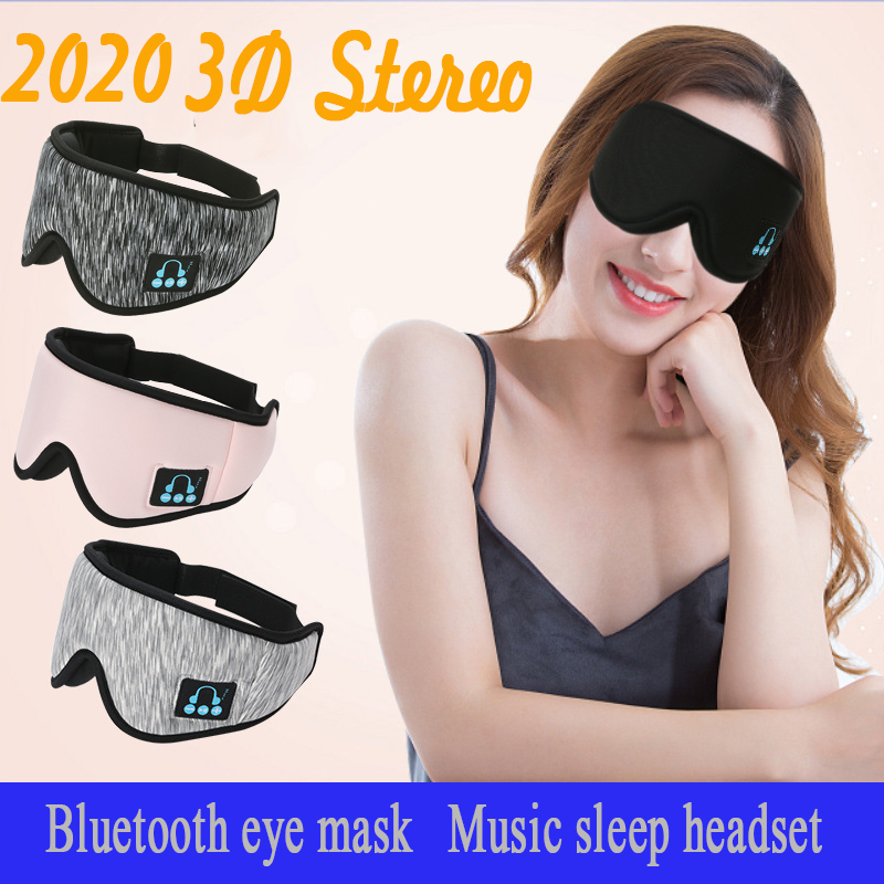 New 2020 3DBlindfoldmanufacturers wireless headset Bluetooth v5 0 call music sleep artifact breathable sleep eye mask headphone