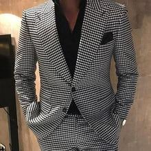 Tuxedos Jacket Groom Two-Pieces-Suit Wedding Fashion Peak Blazer Lapel Dinner/darty-Suit
