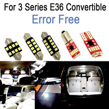 12x LED plate lamp + Interior dome Light glove box bulb for bmw 3 series E36 Convertible M3 318i 320i 325i 323i 328i (1993-1999)