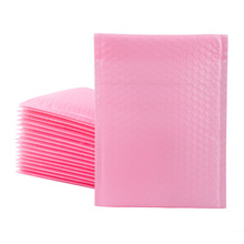 20pcs Light Pink Poly Bubble Mailer Bags Envelopes Padded Pink Self Sealing Clothes Organizer Waterproof Shipping Packaging