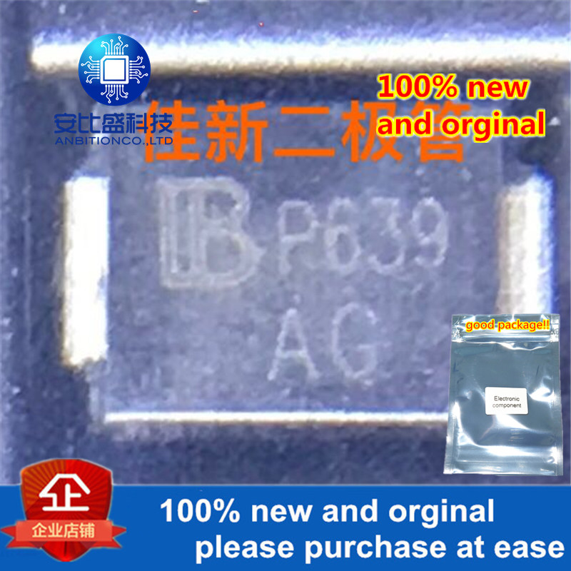 50pcs 100% New And Orginal  SMBJ6.0CA DO214AA Silk-screen AG In Stock
