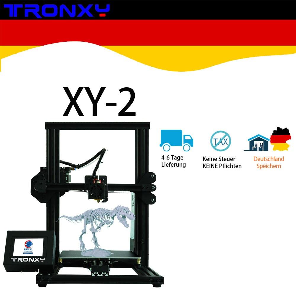 Venda quente Impressora XY-2 3D Tronxy Novo Design Auto nível Integrado Drucker Ecrã Táctil a Cores de Alta Precisão a Velocidade de Impressão Rápida