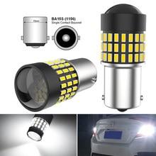 2x1156 ba15s p21w 7443 w21/5w led canbus reverso backup luz da cauda lâmpada para volkswagen vw polo golf 4 5 6 7 passat b6 b5