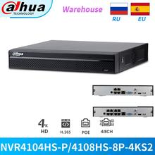 Dahua NVR Video-Recorder Network Ip-Camera Cctv-Security NVR4108HS-8P-4KS2 Onvif 4CH