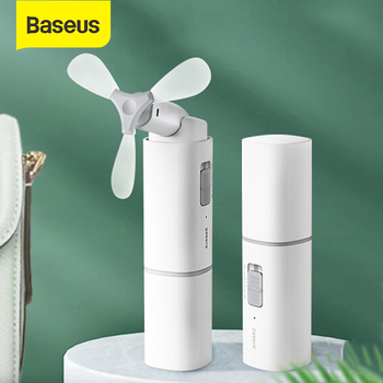Baseus Mini Fold Fans Electric Portable Hold Small Fans Power bank 2in1 Low Noise Rechargable Desktop Electric Fan Outdoor 1