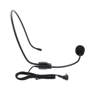 Image 2 - Draagbare Headset Microfoon Wired 3.5Mm Jack Condensor Met Mic Voor Luidspreker Voor Tour Guide Onderwijs Lezing Microfoon