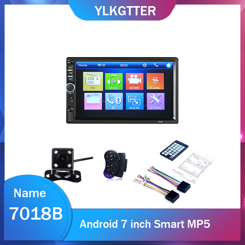 Universl 2Din 7Inch Touchable HD Screen Mirror Link <font><b>7018B</b></font> Car Multimedia Player MP4 MP5 For Car Truck Bus Parking Monitor Screen image