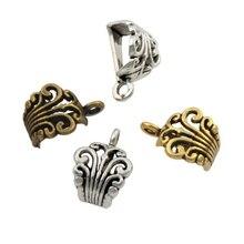 22pcs    Antique Silver/Gold/Bronze Hollow Buttterfly Flower Connectors Bails Beads Fit Charm European Bracelet L683 цена и фото